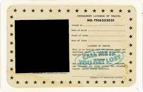Permanent License Of Travel Tyler Template